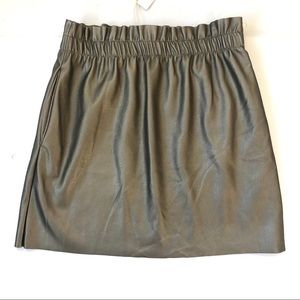 Zara Faux Leather Skirt with Stretch Waist